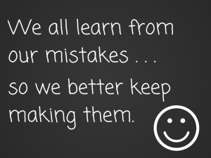 We learn from our mistakes